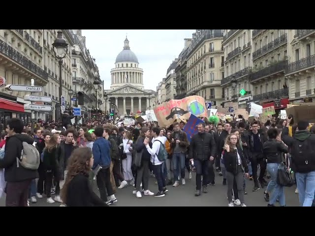 Marche internationale étudiante le climat