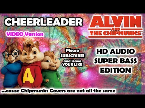 Cheerleader - OMI (Alvin And Chipmunks HD COVER) - NO ROBOTIC VOICES