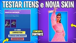 FORTNITE Concepts-TEST ITEMS for FREE and NEW SKIN?