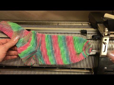 Socken auf der Pfaff Duomatic 80