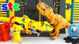 Mr Potato Head Bumblebee Raptor y la Jaula del Dinosaurio Rex