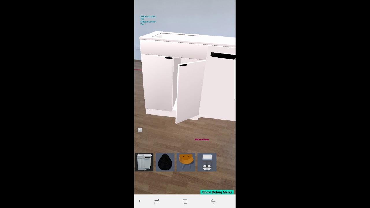 Furniture app Unreal Engine 4 ARCore ARKit