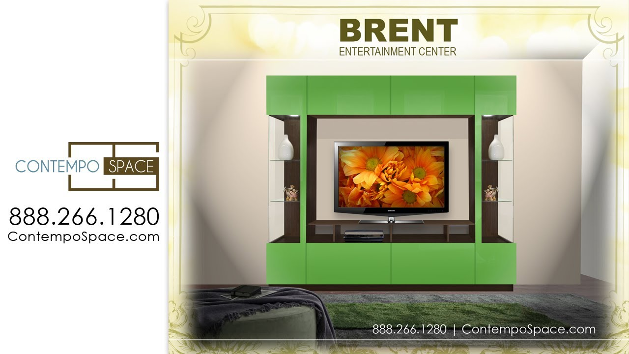 brent entertainment center two sided curio displays item