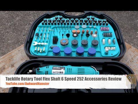 Dremel Alternative: Tacklife Rotary Tool Review - Includes Flex Shaft, 6 Speed, 252 Accessories
