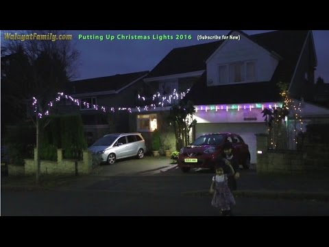 how to put up outdoor christmas lights december 2016 sheffield youtube