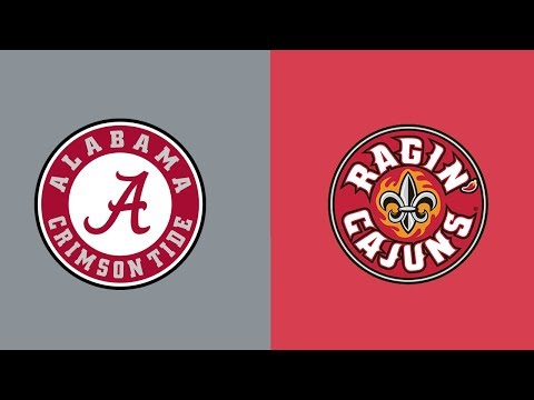Week 5 2018 Louisiana Lafayette at #1 Alabama Full Game Highlights