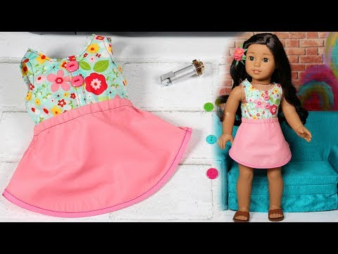 DIY American Girl Dress cut with Cricut Maker