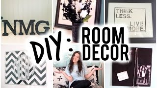 DIY Room Decor | Fabric Corkboards, Cut-Out Quote Canvas, Glitter Monogram, Wooden Letters & Vase!
