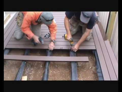 how to build a composite deck youtube