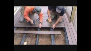 How To Build A Deck - Composite Boards And Herringbone Corners
