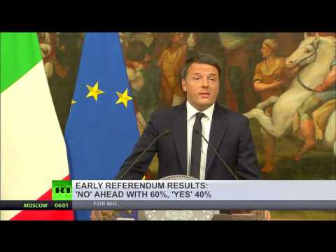 'Good luck to us all': Renzi set to resign as 60% vote 'NO' in Italy Referendum
