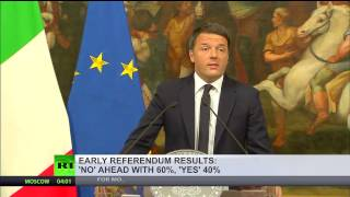 'Good luck to us all'  Renzi set to resign as 60% vote 'NO' in Italy Referendum