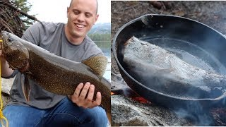 Biggest Trout of My Life! + Rainbow Trout Catch N' Cook