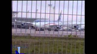 A340 de Lan Chile en su primer día en Chile (28/09/2000)