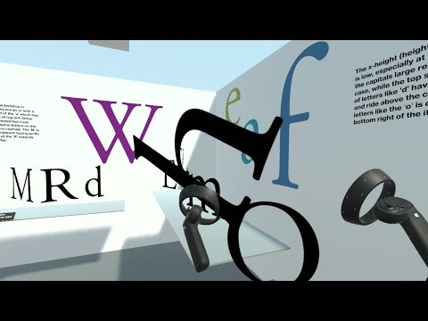 Museum of Type - Windows Mixed Reality