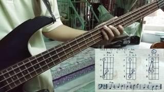 Tự học guitar bass - điệu Bolero - câu 2