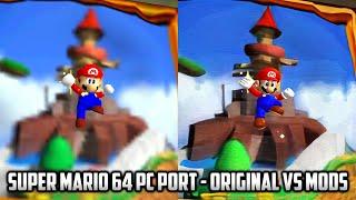 ⭐ Super Mario 64 PC Port - 59 stars (of 70) TAS Original Vs Mods comparison - 4K 60FPS