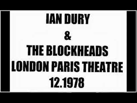 Ian Dury & The Blockheads- Outro - London Paris Theatre 78
