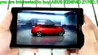 Best Buying Android Gaming Tablet - ASUS ZENPAD Z170C A1 BK 7 Inch Review