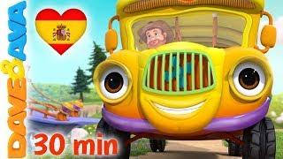 🚌  Las Ruedas del Autobús y Más Canciones Infantiles | Música Infantil de Dave y Ava 🚌