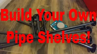 How to Build Shelves with Decorative Piping