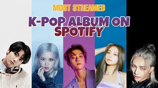MOST STREAMED K-POP ALBUMS ON SPOTIFY - who is the #1 artist on spotify