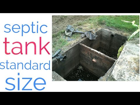 Standard Size Of Septic Tank Youtube