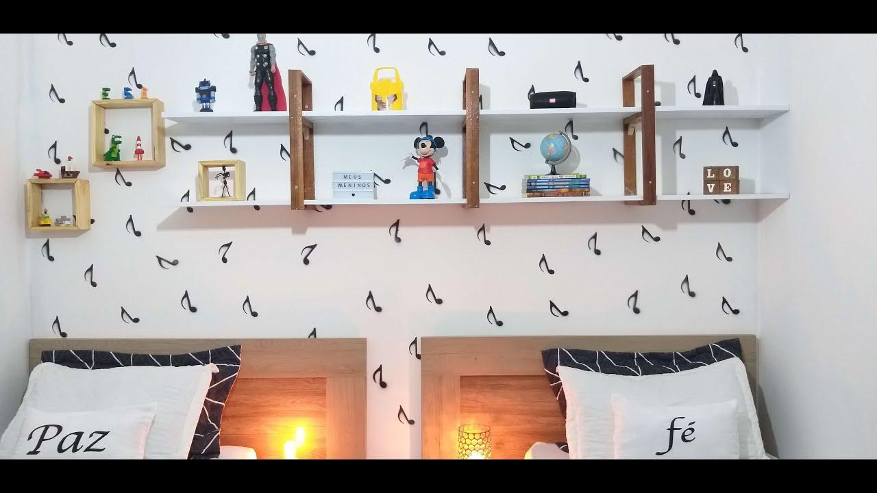 Prateleiras para o quarto sem mão francesa com suporte de madeira|faça voçê mesmo|sandra batista