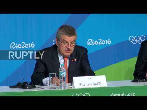Brazil: 'If you are clean you are respected' – IOC head Bach to Russian athletes