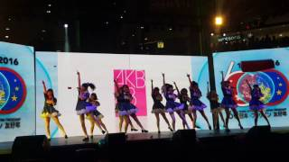AKB48 Team 8 performance during the celebration of the 60th year of...