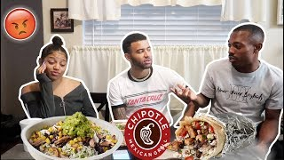 CHIPOTLE MUKBANG! FINDING OUT MY BEST FRIEND IS DATING MY SISTER BEHIND MY BACK...😤