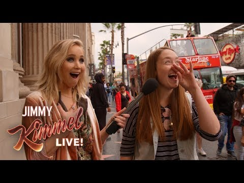 Guest Host Jennifer Lawrence Surprises People on Hollywood Blvd.