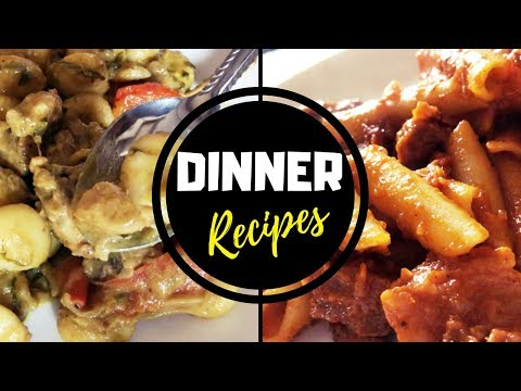 Dinner Recipes / Rice Dumplings in Chicken Curry (Kunhipidi) / Mutton Macaroni