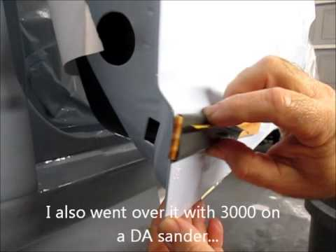 Elimination of drips after painting a car