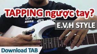 Tuyệt chiêu Tapping ngược tay | Học guitar online - Học đàn guitar | HocDanGhiTa.Net