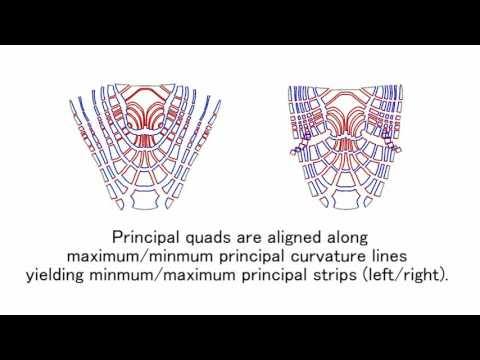 Fabrication of freeform objects by principal strips(SIGGRAPH ASIA 2016)