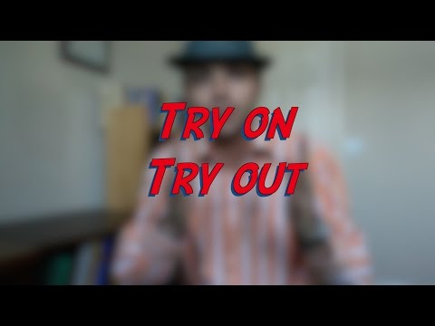 Try on vs. Try out - W15D1 - Daily Phrasal Verbs - Learn English online free video lessons
