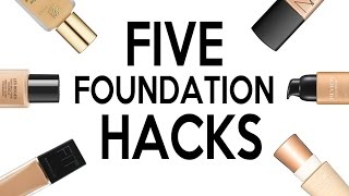 FIVE LIFE CHANGING FOUNDATION HACKS 2016!