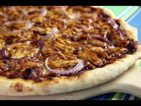 BBQ Chicken Pizza with Yams Crust