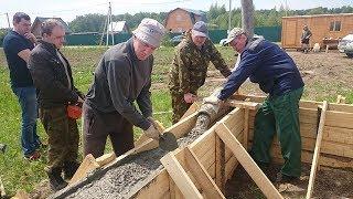 видео Фундамент под деревянный дом