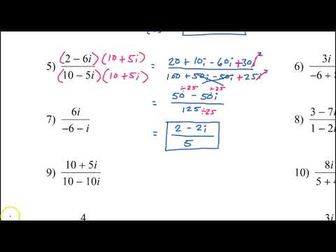 Day 5 HW Simplify Imaginary Fractions, Multiply, Absolute Value