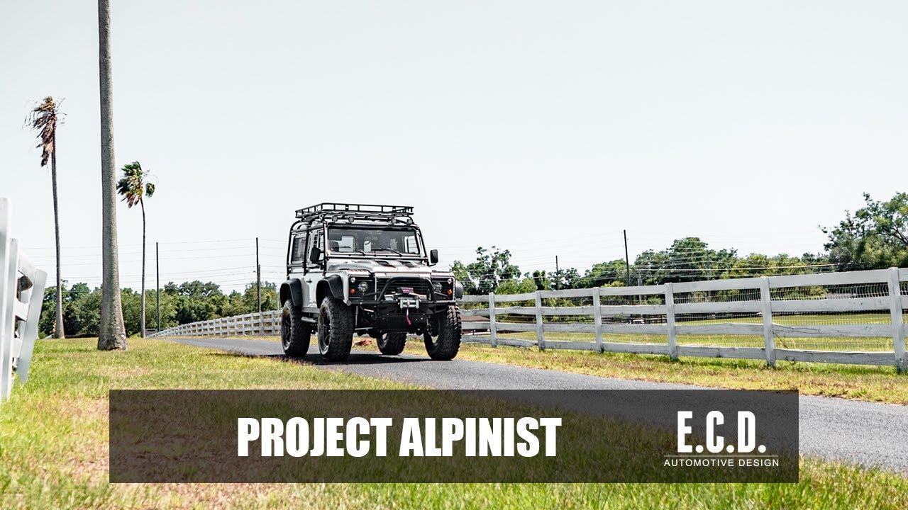 Custom Defender 90 With Fold Out Ramp Project Alpinist E C D Automotive Design Youtube