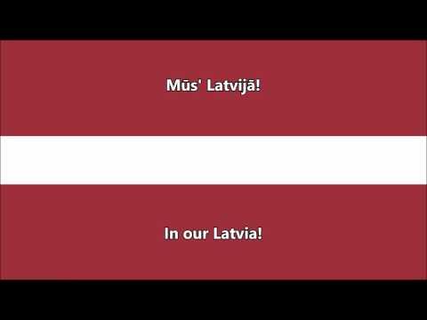 National anthem of Latvia (Latvian/English translation)