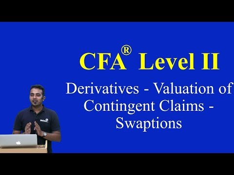 2017: CFA Level II: Derivatives - Valuation Of Contingent Claims - Swaptions