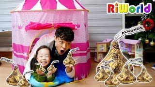 초콜릿을 찾아라! 리원이와 아빠의 초콜릿 보물 찾기 숨바꼭질 놀이 Funny Treasure hunt