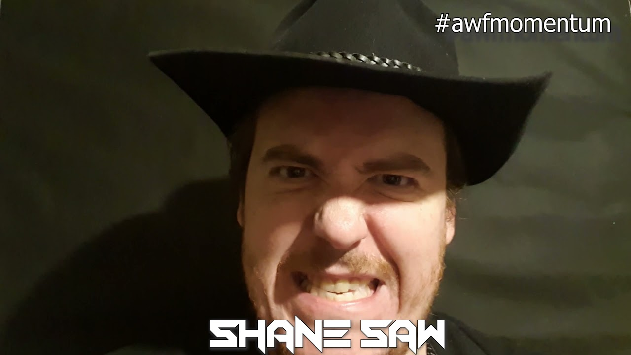 Shane Saw ready to cut Whiskey Sixx down at AWF Momentum on 24 April in Anything Goes Title Bout
