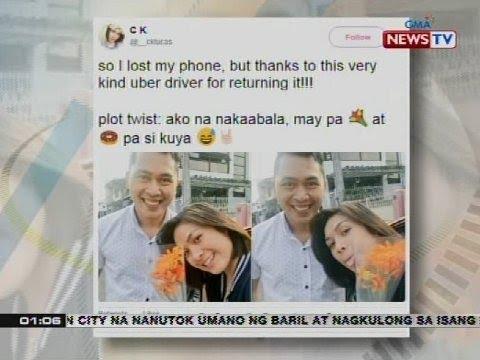 Sweet gesture ng Uber driver, nag-trending