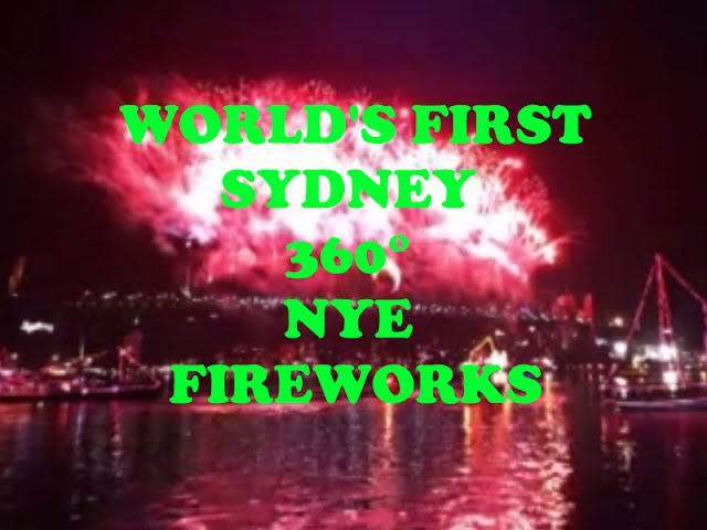VR 360° Video Sydney New year's Eve fireworks World's-First [360 Video]