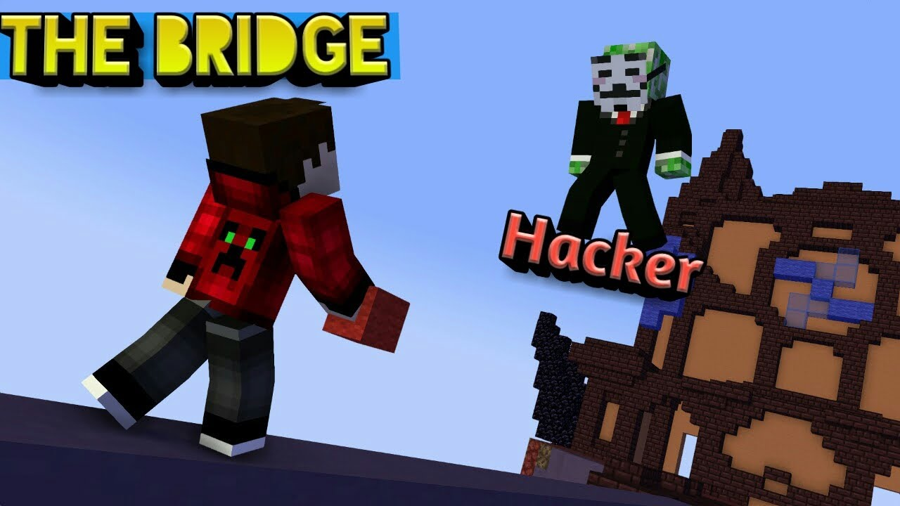 Hacker Vs Me In The Bridge   Nether Games   Minecraft BE In Hindi   McpeHindi