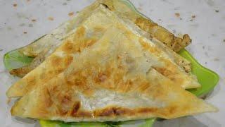 Чебуреки из лаваша./Chebureks from pita bread.